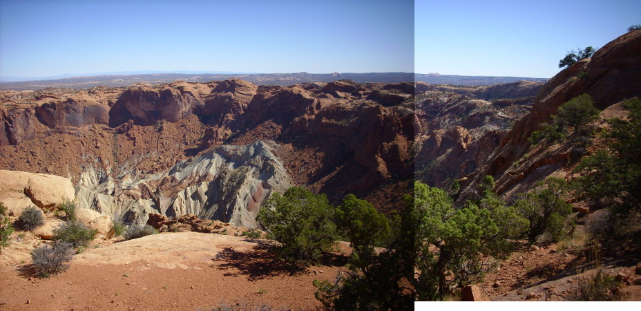 Panorama of Upheaval Dome from first stop