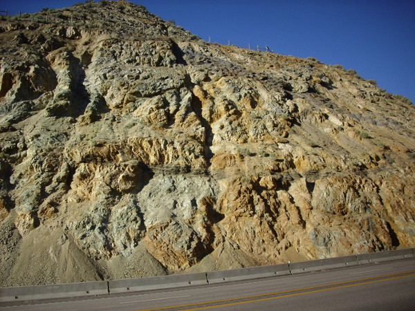 Roadcut in Sardine Canyon