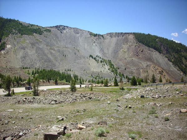 Landslide scar