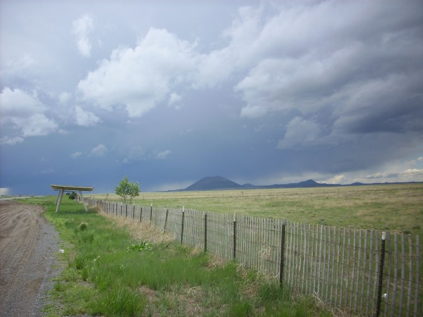 Capulin Peak and thunderstorm