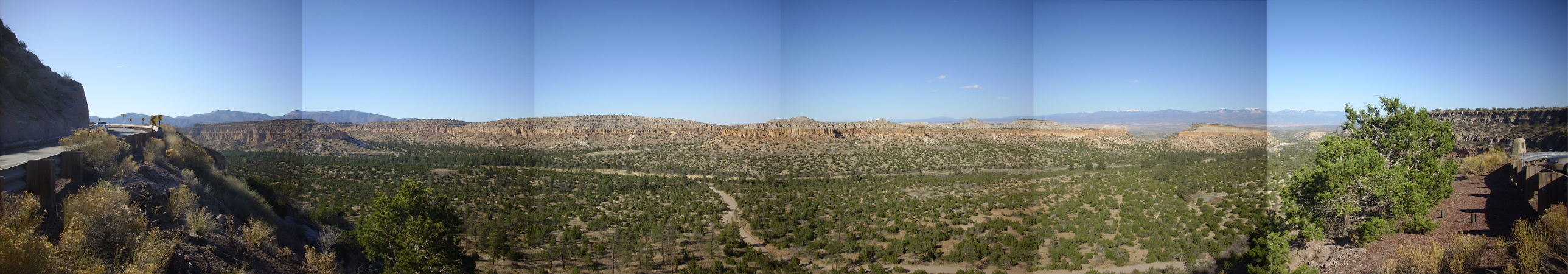 Pueblo Canyon from Clinton P. Anderson Scenic Overlook