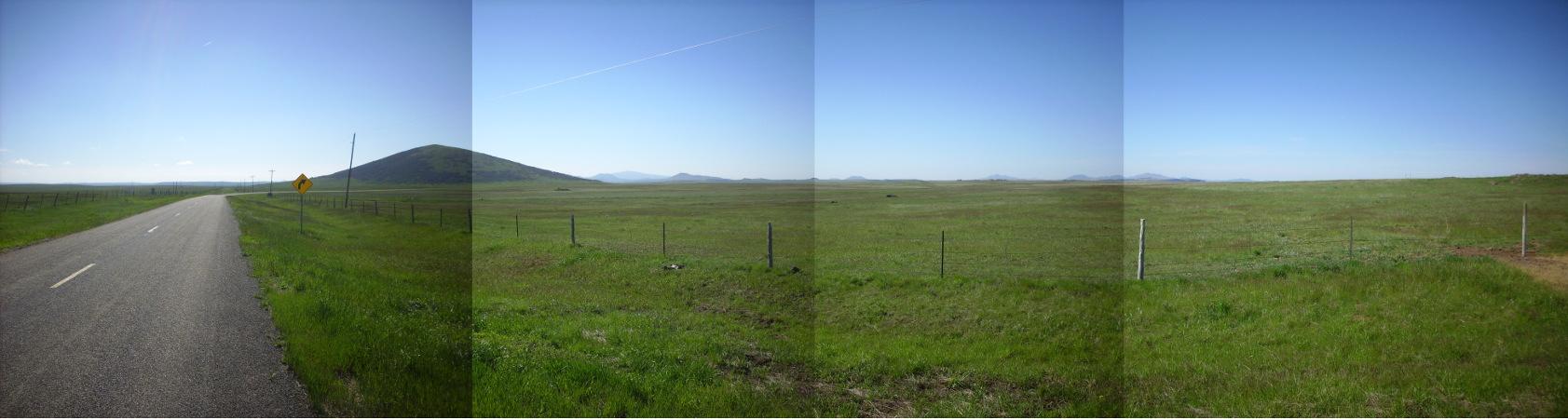 Raton-Clayton volcanic field panorama