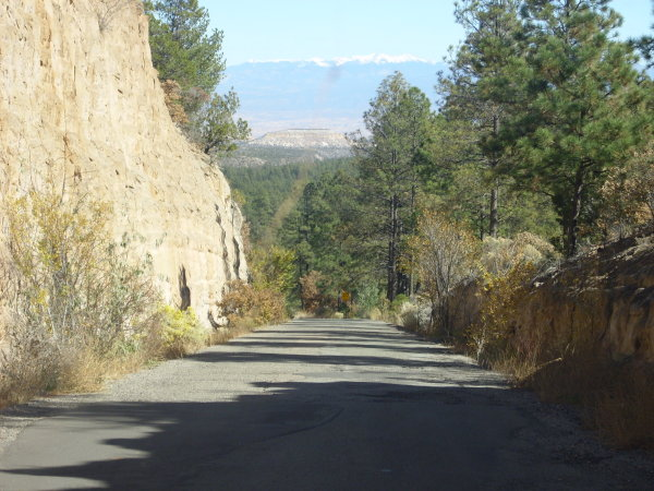 Road cut to Rendija Canyon