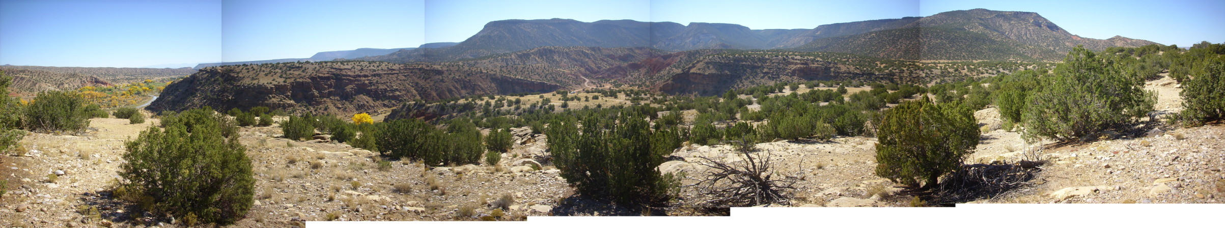 Panorama of Canones fault zone