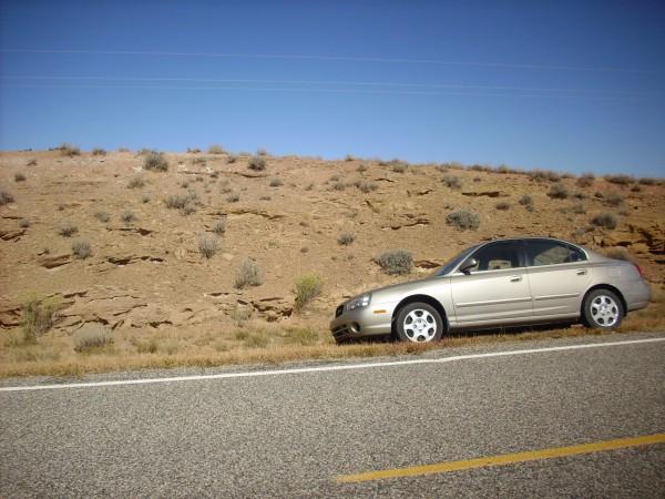 Roadcut in Mesa Montosa Member