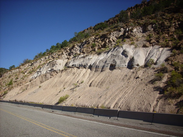 Road cut in Bandelier Tuff