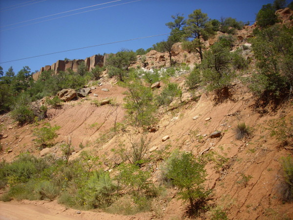 Bandelier Tuff on Chinle Group sediments