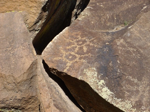 Native American rock art