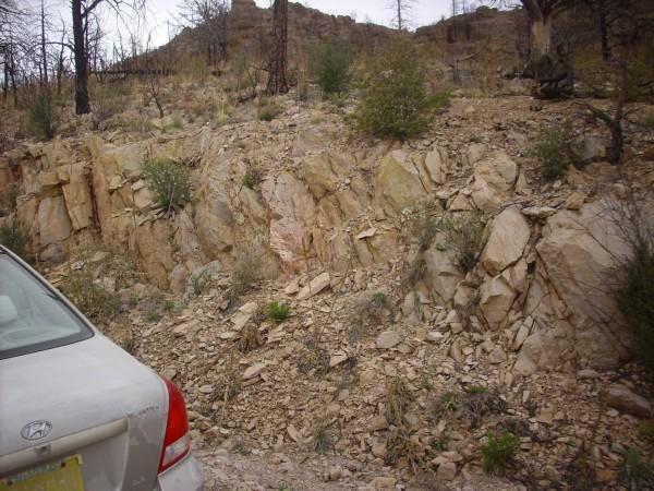 Outcrop of Bearhead Rhyolite