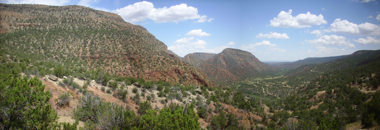 Panorama to south of Guadalupe Box