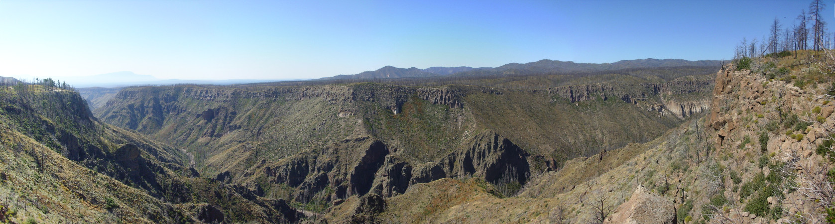 Cochiti Canyon panorama