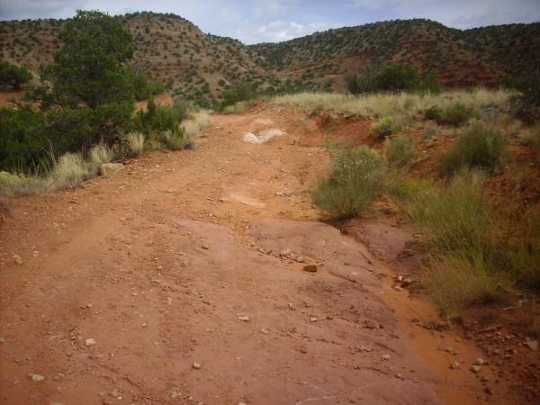 Mesita Blanca fault trace